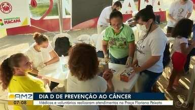 Aconteceu o dia 'D' de prevenção ao câncer na praça Floriano Peixoto em Macapá - Foi realizada uma ação com prestação de serviços e exames no local.