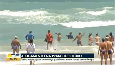 Pelo menos 7 pessoas se afogam na grande Fortaleza no fim de semana - Casos em lagoas também preocupam. Um homem de 33 anos morreu na Lagoa do Cauípe, em Caucaia.