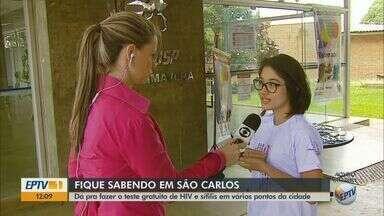 Campanha realiza testes rápidos de HIV e sífilis em São Carlos - Dezembro Vermelho conscientiza sobre importância do diagnóstico precoce das doenças em vários pontos da cidade.