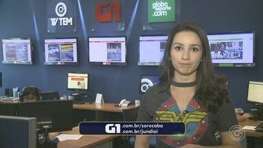 Confira os destaques do G1 Sorocaba e Jundiaí desta segunda-feira - Mayara Corrêa traz os destaques do G1 Sorocaba e Jundiaí desta segunda-feira (26).