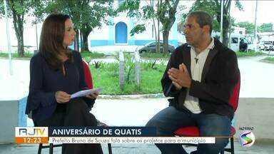 RJTV entrevista prefeito de Quatis - parte I - Prefeito Bruno de Souza fala sobre os projetos para o município.