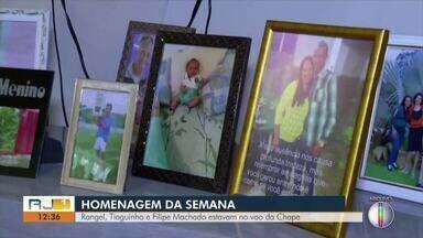 Homenagem da Semana: Rangel, Thiaguinho e Filipe Machado estavam no voo da Chape - Assista a seguir.