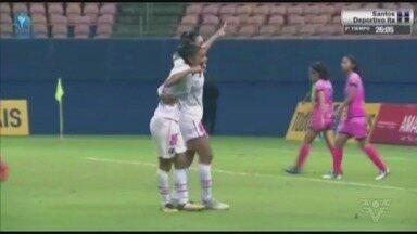 Confira os gols da vitória do Santos contra o Deportivo Ita (BOL) - Sereias golearam por 6 a 0 na última sexta-feira (23). Equipe comandada pela técnica Emily Lima volta a campo nesta segunda-feira (26), contra o Sport Girls, às 22h30 (de Brasília), no Estádio do Sesi, em Manaus.