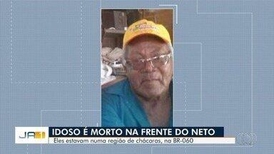 Idoso é morto a tiros dentro de carro próximo à BR-060, em Goiânia - Ele estava com o neto, de 14 anos, no carro. Adolescente não se feriu. Família suspeita de uma tentativa de assalto.