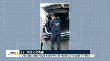 Polícia deflagra operação contra tráfico de drogas, furto e roubo de veículo em Goiânia - Mandados são cumpridos na Grande Goiânia.