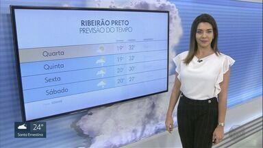 Veja a previsão do tempo para esta quarta-feira (28) na região de Ribeirão Preto - Faz calor e não há possibilidade de pancadas de chuva.