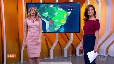 Previsão é de temporal em Roraima nesta quarta-feira (28) - O tempo fica firme no Rio de Janeiro e em parte de Minas e do Espírito Santo.