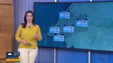 Tempo: regiões Norte, Noroeste e Fronteira Oeste tem risco de temporais nesta quarta (28) - As temperaturas chegam aos 29ºC na área.