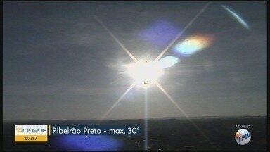 Veja a previsão do tempo para esta quarta-feira (28) em Ribeirão Preto, SP - A máxima prevista é de 30°C.