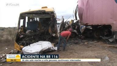 Tragédia na BR-116: motorista envolvido no acidente vai ser enterrado em Euclides da Cunha - Acidente aconteceu no domingo (25), sete pessoas morreram e 27 ficaram feridas.