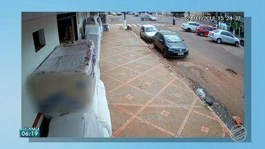 Polícia investiga acidente que matou presidente de Associação Comercial de Ponta Porã - Câmeras de segurança mostram o momento do acidente.