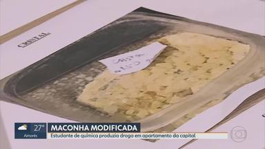 Estudante de química suspeito de produzir drogas em apartamento é preso em Belo Horizonte - Delegado disse que suspeito tinha 'cardápio de drogas' em site; material para fazer entorpecentes vinha da Polônia e da Holanda.