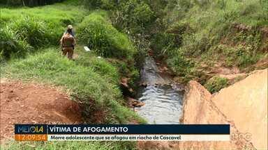 Morre adolescente que se afogou em riacho de Cascavel - O acidente foi no começo do mês de novembro.