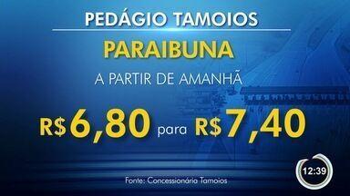 Pedágio de Paraibuna na Tamoios tem reajuste extra de R$ 0,60 - Pedágio para carros passa de R$ 6,80 para R$ 7,40.