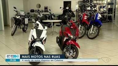 Venda de motos dispara em Colatina, ES - Muitos motoristas estão trocando carros por motos.