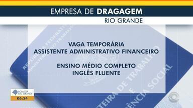 Empresa de dragagem de Rio Grande oferece vaga temporária de emprego - Veja os benefícios e como participar da seleção.