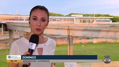 Aeromóvel de Porto Alegre faz parada neste domingo (2) para manutenção técnica - Assista ao vídeo.