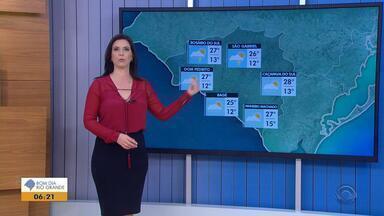 Tempo: Campanha do RS pode ter chuva rápida nesta terça-feira (4) - Veja como fica a previsão.