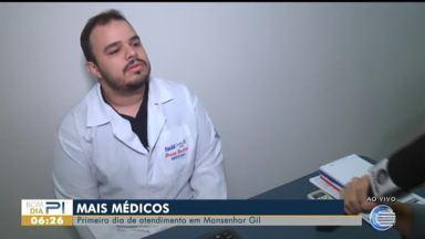 Médicos dos Mais Médicos começam a atuar em Monsenhor Gil - Médicos dos Mais Médicos começam a atuar em Monsenhor Gil