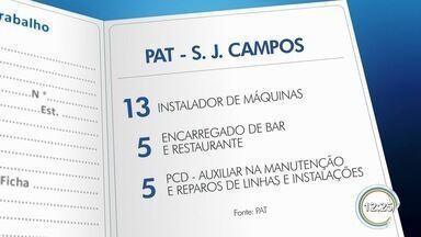 PATs de São José e Taubaté têm 96 vagas disponíveis - Saiba como se candidatar.
