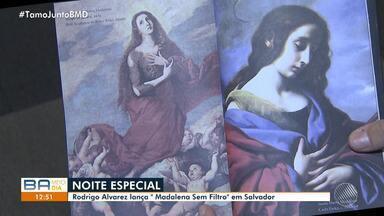 Rodrigo Alvarez lança livro 'Madalena Sem Filtro', em Salvador - O correspondente internacional da Globo participou também de um debate sobre feminismo.