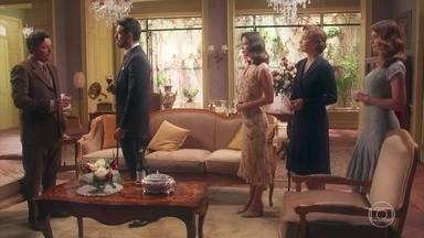 Coronel Eugênio autoriza Gustavo a fazer a cortejo de Julia - Julia fica desesperada e desabafa com Dora