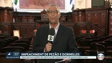 Mesa diretora da Alerj aprova pedido de impeachment de Pezão e Dornelles - Pedido do Psol tramitava na direção da Assembleia Legislativa desde 2017