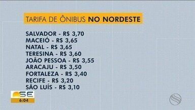 Veja a tabela de preços das tarifas de ônibus no Nordeste - Prefeitura de Aracaju anunciou um reajuste na tarifa do transporte público de 14,2% a partir do domingo (9).