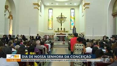 Missa solene na Catedral celebra dia de Nossa Senhora da Conceição - Santa é padroeira da Diocese de Santarém.