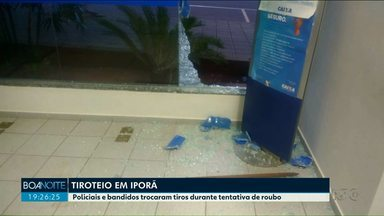 Tentativa de assalto termina em tiroteio em Iporã - Assaltantes tentavam assaltar uma agência bancária, quando foram surpreendidos por policiais.