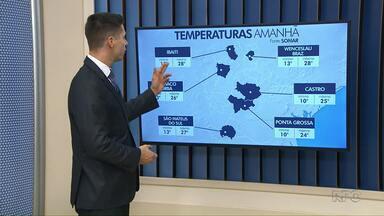 Veja como ficam as temperaturas para este domingo (09) - Máxima chega a 24°C em Ponta Grossa.