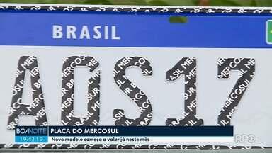 Novo modelo de placa começa a valer esse mês - Será o mesmo modelo de países como Argentina e Paraguai.