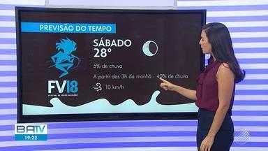Confira a previsão do tempo para este domingo (9), em Salvador - Veja as informações no mapa com Thaic Carvalho.