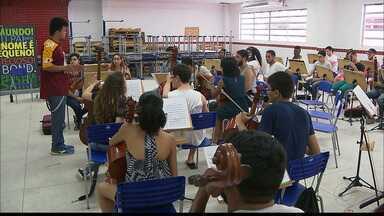 Alunos do PRIMA de todo estado ensaiam para apresentação do Grande Concerto em João Pessoa - Apresentação será as 16h, no Espaço Cultural.