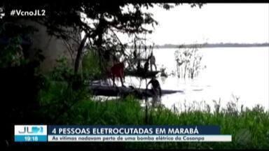Quatro pessoas morrem após receber descarga elétrica em Marabá - Vítimas estavam tomando banho em um rio.