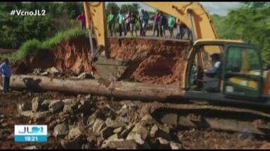 Trecho da BR-158, no Pará, é liberado após asfalto ceder durante chuva - O serviço de restauração do trecho foi concluído.