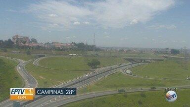 Campinas tem mínima de 16ºC e máxima de 31ºC, sem chuvas - Confira a previsão do tempo para outras cidades da região.