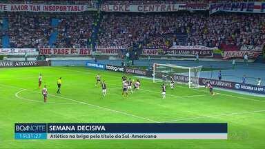 Atlético decide título da Sula-Americana nesta quarta-feira (12) - O primeiro jogo foi 1x1.