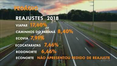 Pedágios vão ficar mais caros no Paraná - Região Norte e Noroeste vai ter o maior reajuste do estado.