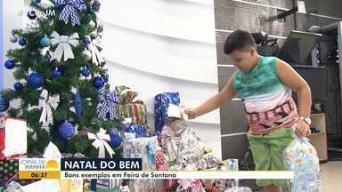 'Natal do Bem': menino quebra o 'porquinho' para doar presentes em Feira de Santana - O 'Natal do Bem' é uma campanha da Rede Bahia. Sua doação será entregue a entidades carentes; confira os detalhes.