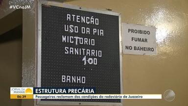 Passageiros reclamam das condições da rodoviária de Juazeiro - A reportagem foi ao local e encontrou uma estrutura precária.