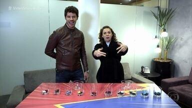 José Loreto e Renata Gaspar disputam a brincadeira da bolinha - Confira!