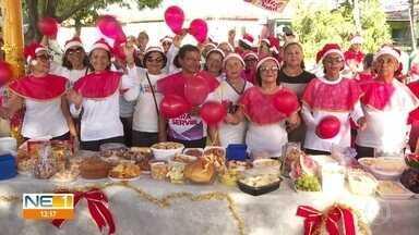 Atletas da terceira idade fazem confraternização em praça de Paulista, no Grande Recife - Durante o encontro, café da manhã reforçado foi servido para os participantes.