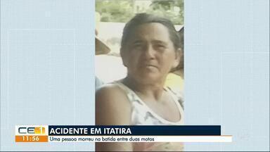 Mulher morre em acidente de moto em Itatira - Confira outras notícias no g1.globo/ce