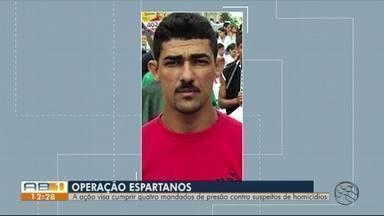 Operação 'Espartanos' busca suspeitos de homicídios em Caruaru - Ação da Polícia Civil visa cumprir quatro mandados de prisão.