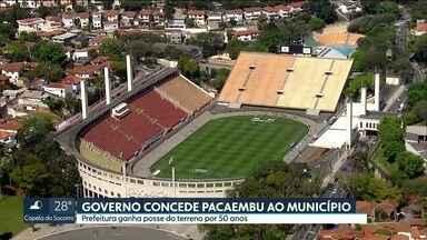Governo do Estado concedeu terreno do Pacaembu ao município de São Paulo - O prazo da concessão é de 50 anos. Esse era um dos entraves que vinham impedindo a concessão do Pacaembu à iniciativa privada.