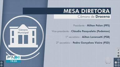 Câmara de Dracena elege nova Mesa Diretora - Definição foi feita durante sessão especial.