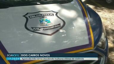 Patrulha Maria da Penha recebe reforço de novas viaturas em Foz - Correção: a Patrulha fez 4 mil atendimentos na cidade.
