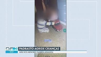 Padrasto agride crianças no Céu Azul - As imagens das agressões estavam gravadas, há três meses, no celular da mãe das crianças. A polícia investiga o caso.