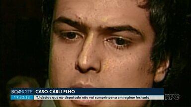 TJ define regime semiaberto para Carli Filho - Ex-deputado foi condenado pelas mortes de dois jovens no trânsito